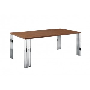 Modrest Bertram Modern Walnut Dining Table