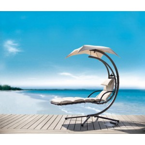 Renava Bahama - Modern Beige Metal Dream Chair