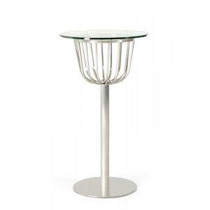 Modrest Brayden Modern Round Glass Bar Table