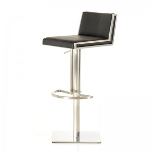 Modrest Keira Modern Black & Walnut Bar Stool