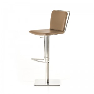 Modrest Nora Modern Taupe Leatherette Bar Stool