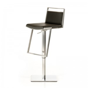 Modrest Peyton Modern Black Leatherette Bar Stool