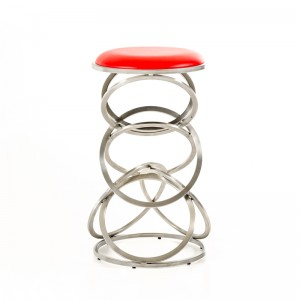 Modrest Sadie Modern Red Bar Stool