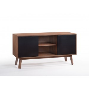 Modrest Laken Modern Walnut & Black Buffet