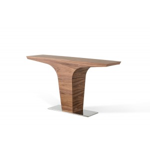 Modrest Bismarck Contemporary Walnut Console Table