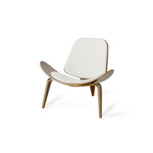 Modrest Warren Modern White & Walnut Accent Chair