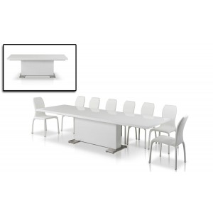 "Modrest Bono ""T"" - Modern White Dining Table"