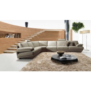 Divani Casa Ozia Modern Grey Leather Sectional