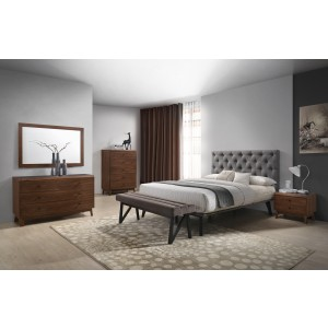 Nice Modrest Gibson Modern Grey U0026 Walnut Bedroom Set