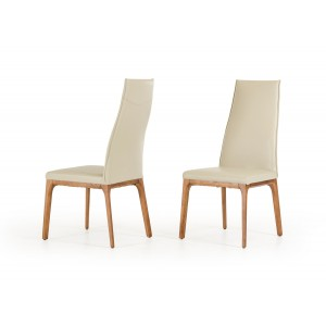 Modrest Brandi Modern Grey & Walnut Dining Chair