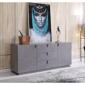 Modrest Buckley - Modern Grey Crackle Buffet