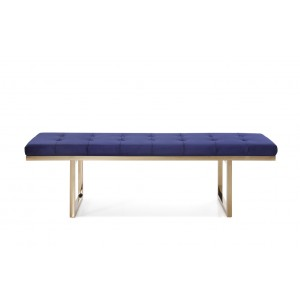 Modrest Samara Modern Blue & Gold Bench