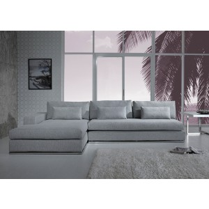 Divani Casa Ashfield - Modern Fabric Sectional Sofa