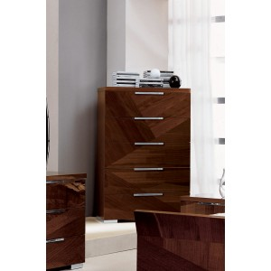 ALF Capri Italian Modern Walnut Chest