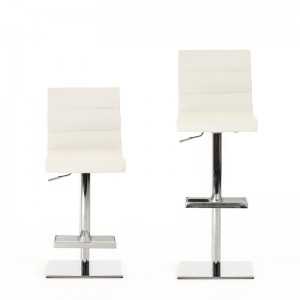 Modrest Kasey Modern White Bar Stool