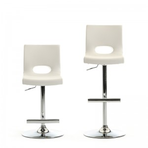 Modrest Lauda Modern White Bar Stool