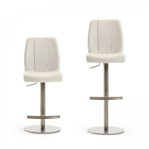 Modrest Gordon Modern White Bar Stool
