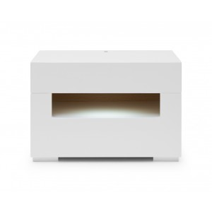 Modrest Ceres Modern Led White Lacquer Nightstand