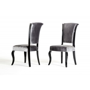 Seema - Modern Grey & Black Dining Chair (Set of 2)