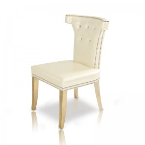 A&X Beatrice White Leather Dining Chair