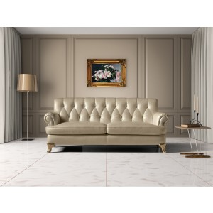 Estro Salotti Charlotte Modern Beige Leather Sofa Set