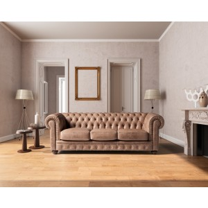 Estro Salotti Chester Modern Brown Leather Sofa Set
