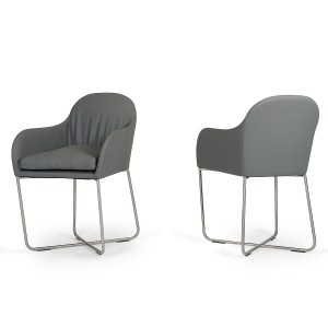 Modrest Sweeny Modern Grey Dining Chair
