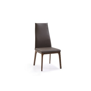 Cologne - Modern Dark Grey & Oak Dining Chair (Set of 2)