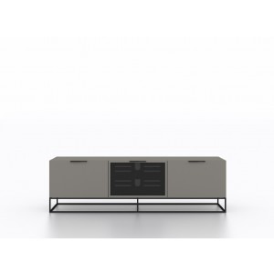 Modrest Hera Modern Grey & Black TV Stand