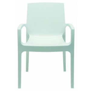 Modrest Cream - Modern White Gloss Italian Dining Chair