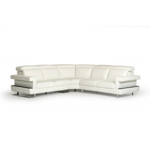 Estro Salotti Crosby Modern White Italian Leather Sectional Sofa