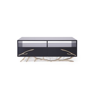 Modrest Legend Modern Black & Gold Coffee Table
