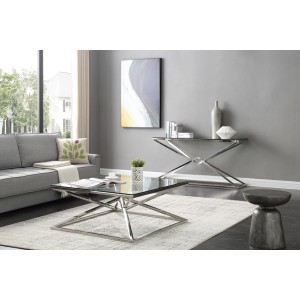 Modrest Xander Modern Square Glass Coffee Table