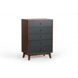 Nova Domus Dali Modern Grey & Walnut Chest