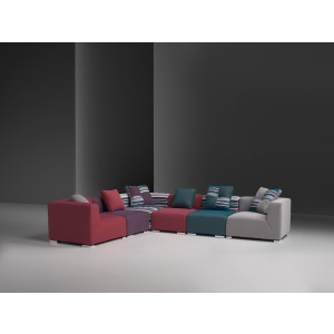 Estro Salotti Donna Modern Fabric Sectional Sofa