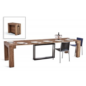 Versus Doris Modern Walnut Extendable Dining Table