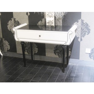 Modrest Auspicious Transitional White and Black Vanity