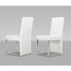 Modrest Vanessa Modern White Leatherette Dining Chair (Set of 2)