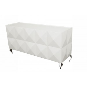 Versus Eva White Lacquer 3-Door Buffet