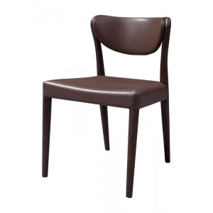 Union - Modern Brown Oak Dining Chair (Set of 2)