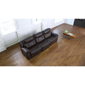 Divani Casa Samson Modern Brown Leather Sofa w/ Electric Recliners