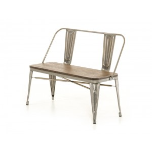 Modrest Edison Modern Steel & Wood Bench