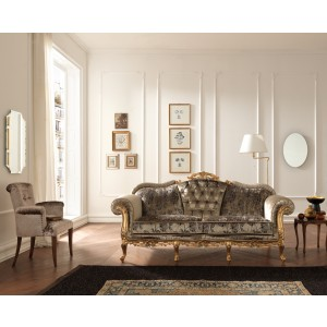 Estro Salotti Edward Traditional Italian Fabric Sofa Set
