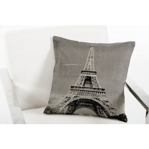 Modrest Eiffel Grey Throw Pillow