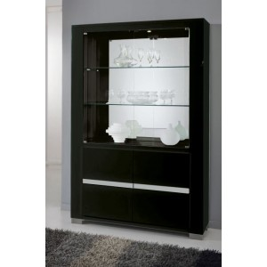 Modrest Elite Italian Modern Black China Cabinet