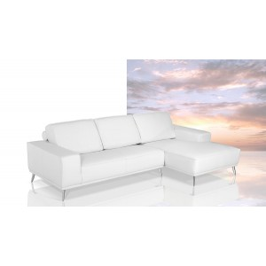 Dima Elite - Modern Italian White Leather Sectional Sofa