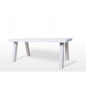 Modrest Emit Ivory Concrete Dining Table