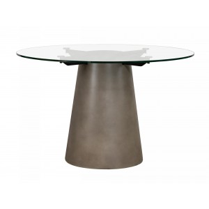Nova Domus Essex - Contemporary Concrete, Metal and Glass Round Dining Table