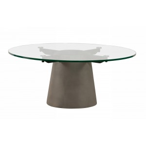 Nova Domus Essex - Contemporary Concrete, Metal and Glass Coffee Table
