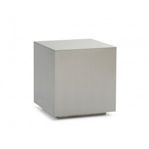 Modrest Anvil Modern Brushed Stainless Steel End Table